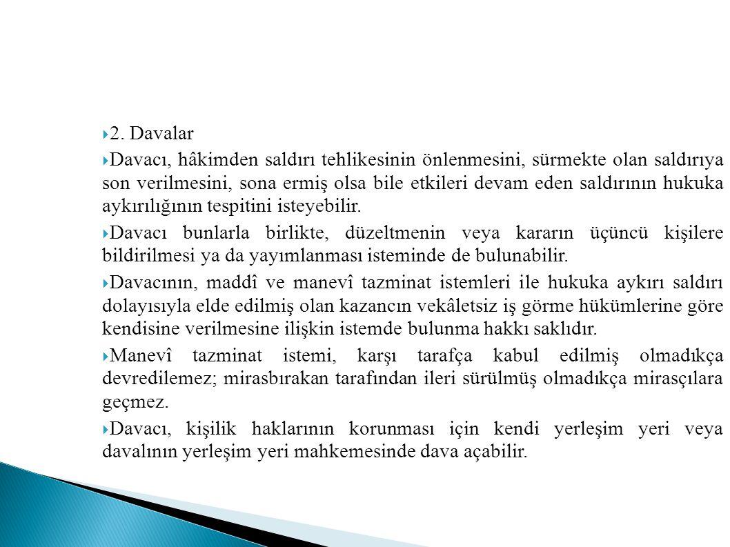 2. Davalar
