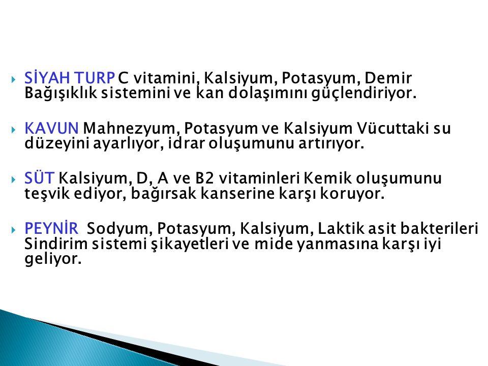 SİYAH TURP C vitamini, Kalsiyum, Potasyum, Demir Bağışıklık sistemini ve kan dolaşımını güçlendiriyor.
