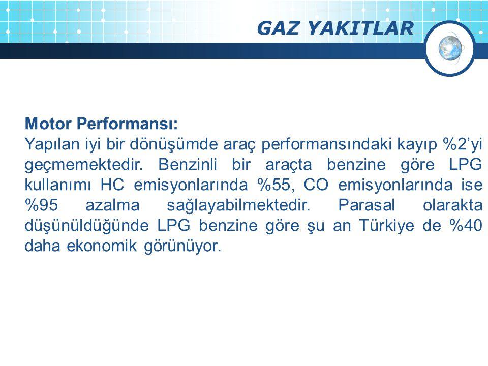 GAZ YAKITLAR Motor Performansı: