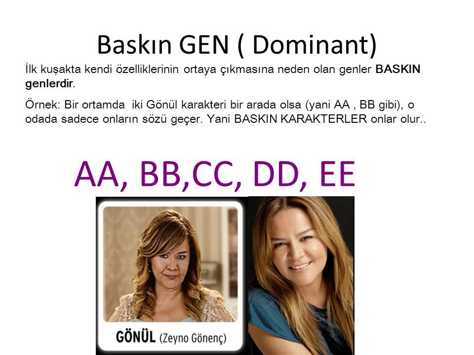 AA, BB,CC, DD, EE Baskın GEN ( Dominant)