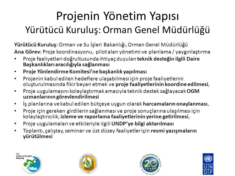 Projenin Yönetim Yapısı Yürütücü Kuruluş: Orman Genel Müdürlüğü