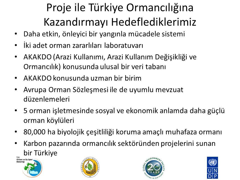 Proje ile Türkiye Ormancılığına Kazandırmayı Hedeflediklerimiz