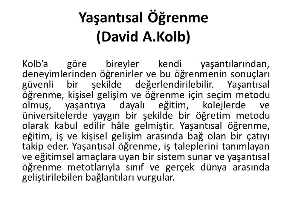 Yaşantısal Öğrenme (David A.Kolb)