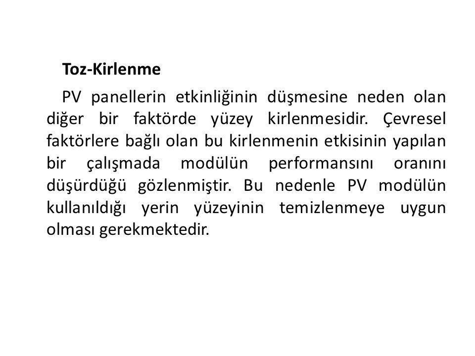 Toz-Kirlenme