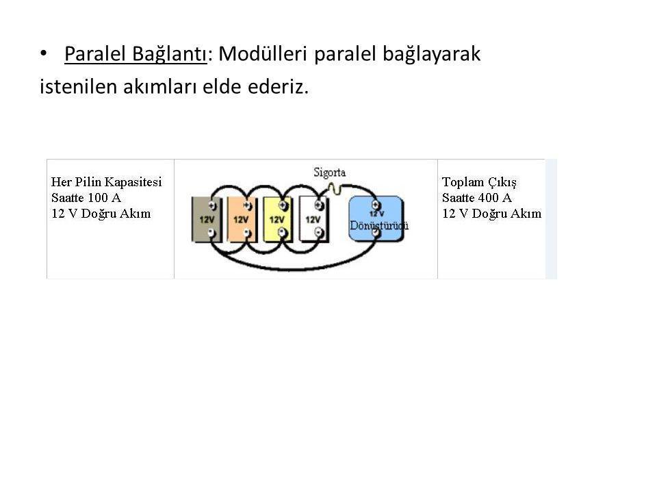 Paralel Bağlantı: Modülleri paralel bağlayarak