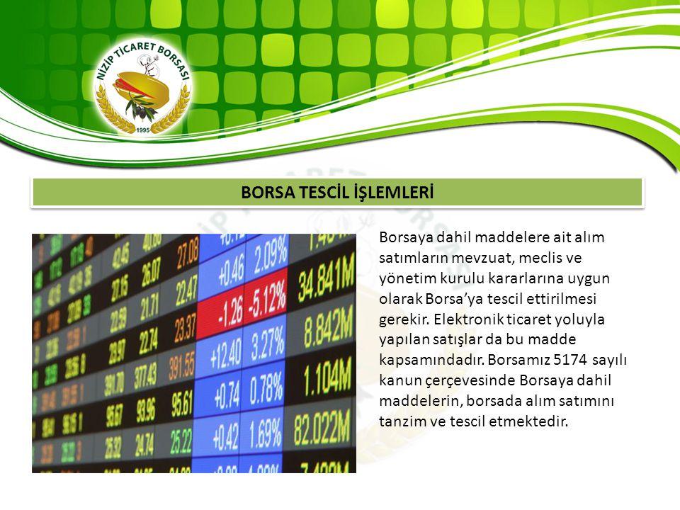 BORSA TESCİL İŞLEMLERİ