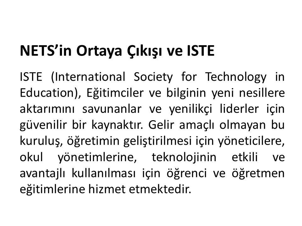 NETS'in Ortaya Çıkışı ve ISTE