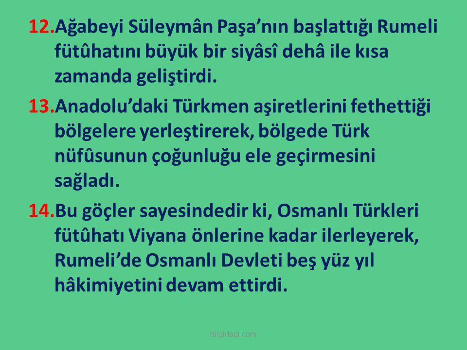 Ağabeyi Süleymân Paşa'nın başlattığı Rumeli fütûhatını büyük bir siyâsî dehâ ile kısa zamanda geliştirdi.