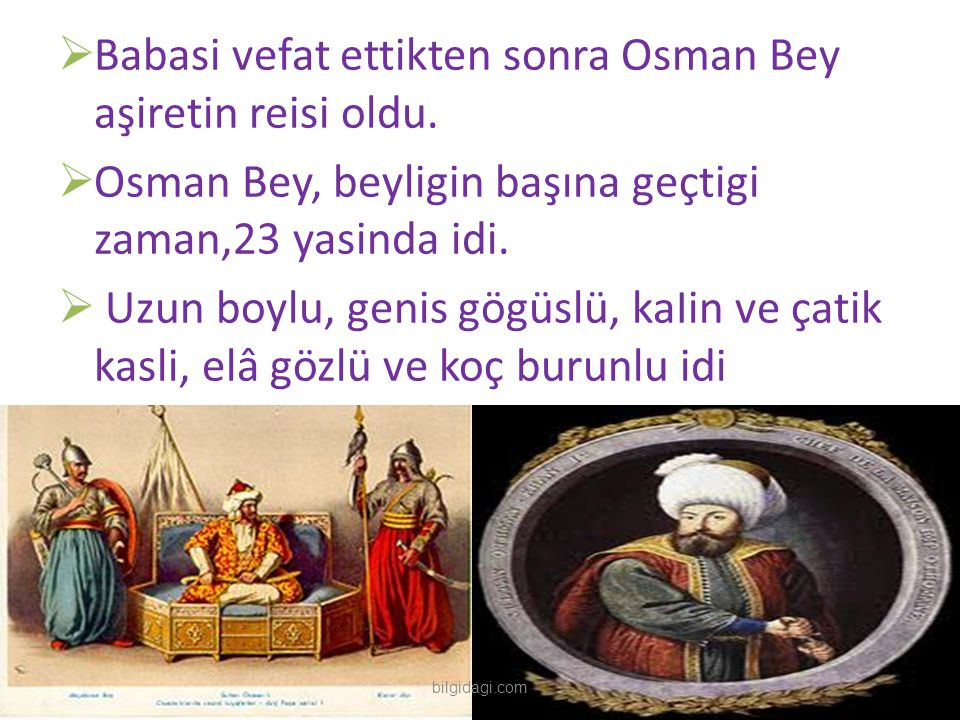 Babasi vefat ettikten sonra Osman Bey aşiretin reisi oldu.