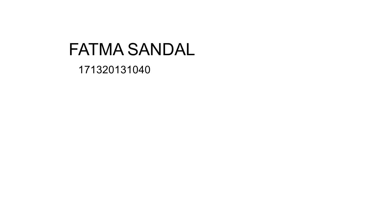 FATMA SANDAL 171320131040