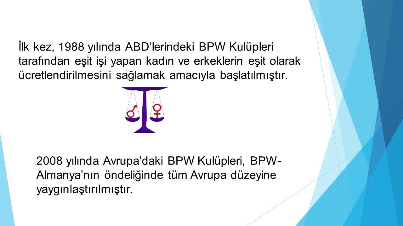 İlk kez, 1988 yılında ABD'lerindeki BPW Kulüpleri tarafından eşit işi yapan kadın ve erkeklerin eşit olarak ücretlendirilmesini sağlamak amacıyla başlatılmıştır.