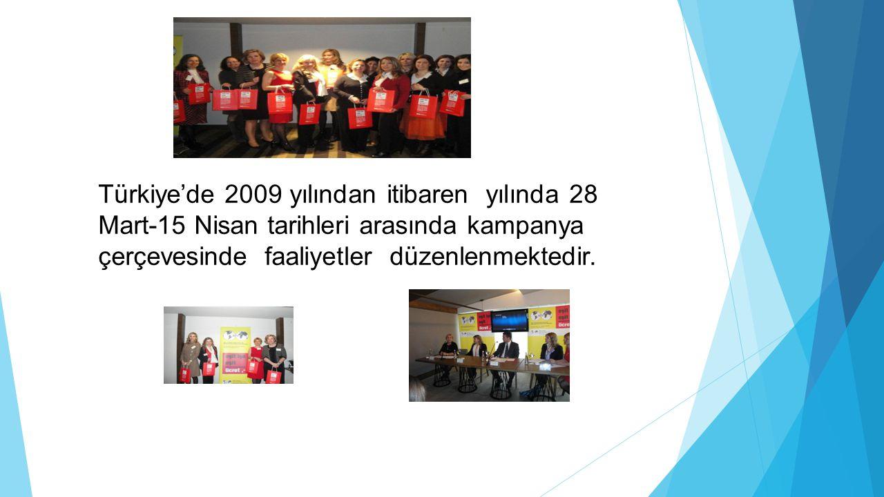 Türkiye'de 2009 yılından itibaren yılında 28 Mart-15 Nisan tarihleri arasında kampanya çerçevesinde faaliyetler düzenlenmektedir.