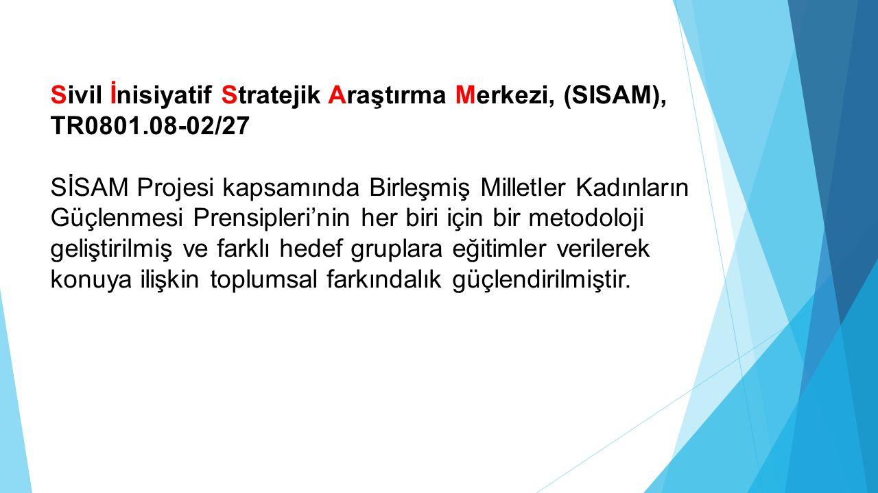 Sivil İnisiyatif Stratejik Araştırma Merkezi, (SISAM), TR0801.08-02/27