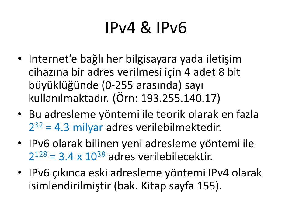 IPv4 & IPv6