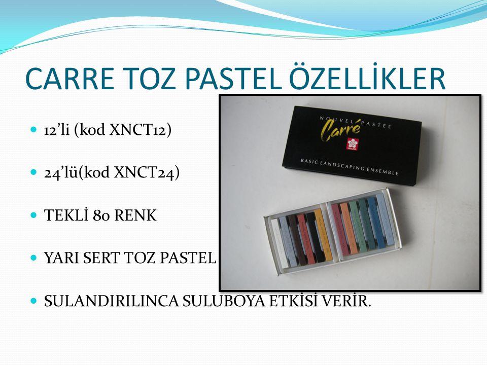 CARRE TOZ PASTEL ÖZELLİKLER