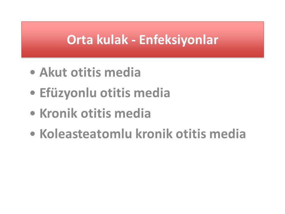 Orta kulak - Enfeksiyonlar