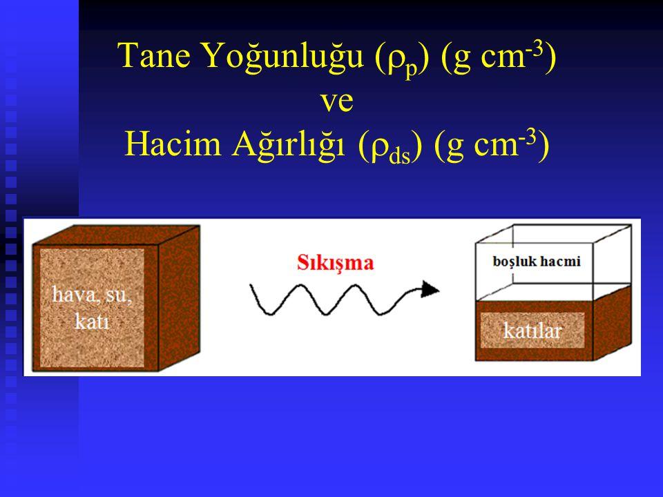 Tane Yoğunluğu (p) (g cm-3) ve Hacim Ağırlığı (ds) (g cm-3)