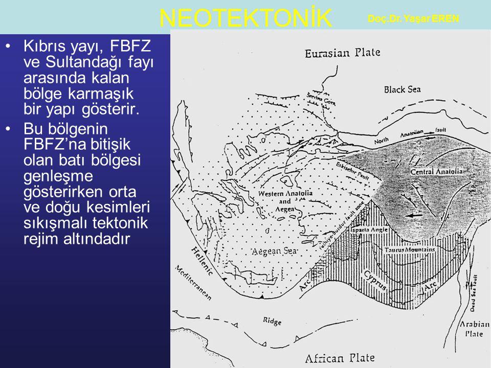 Doç.Dr. Yaşar EREN Kıbrıs yayı, FBFZ ve Sultandağı fayı arasında kalan bölge karmaşık bir yapı gösterir.
