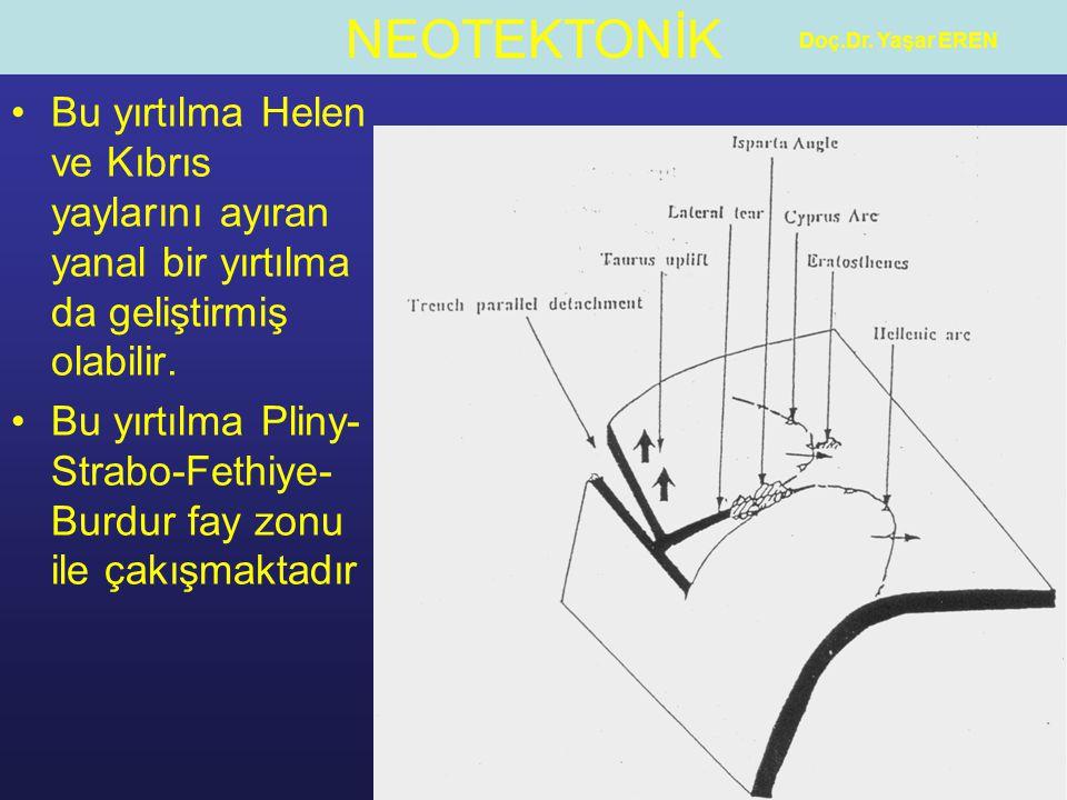 Bu yırtılma Pliny-Strabo-Fethiye-Burdur fay zonu ile çakışmaktadır