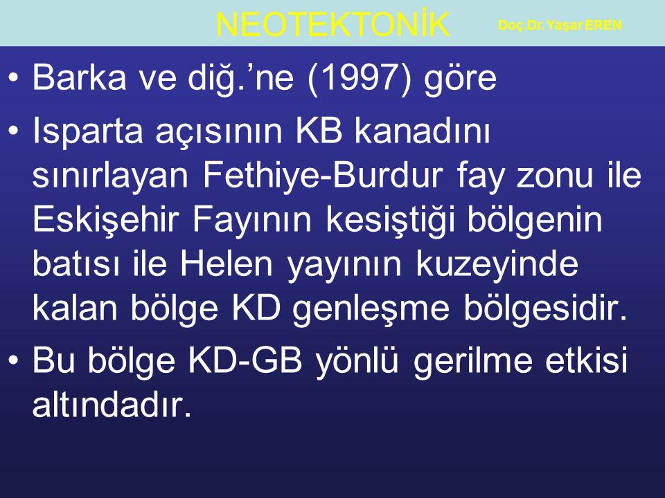 Bu bölge KD-GB yönlü gerilme etkisi altındadır.