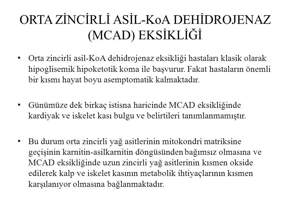 ORTA ZİNCİRLİ ASİL-KoA DEHİDROJENAZ (MCAD) EKSİKLİĞİ