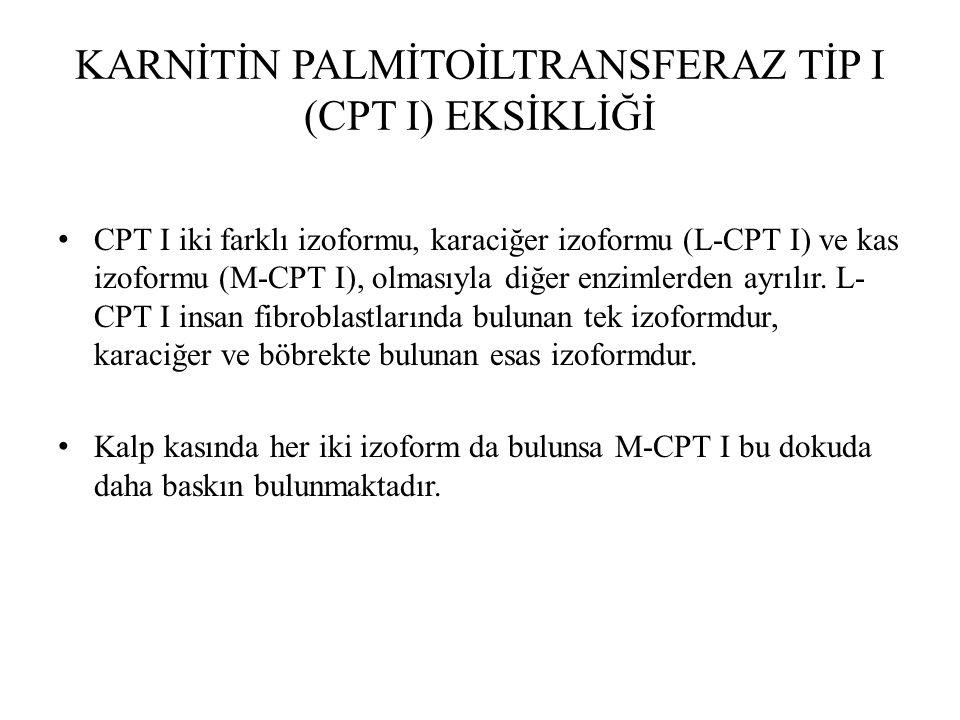 KARNİTİN PALMİTOİLTRANSFERAZ TİP I (CPT I) EKSİKLİĞİ