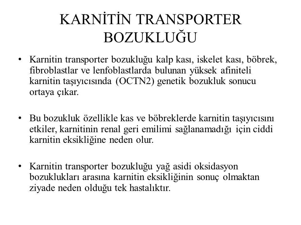 KARNİTİN TRANSPORTER BOZUKLUĞU