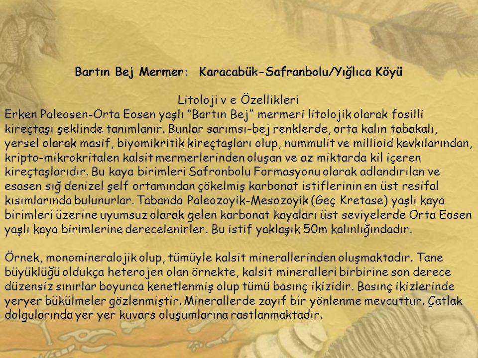 Bartın Bej Mermer: Karacabük-Safranbolu/Yığlıca Köyü