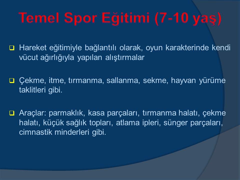 Temel Spor Eğitimi (7-10 yaş)