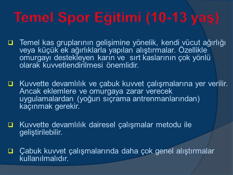 Temel Spor Eğitimi (10-13 yaş)