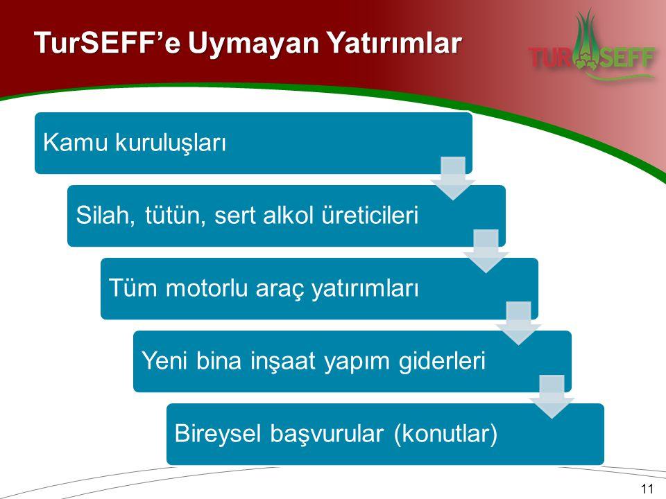 TurSEFF'e Uymayan Yatırımlar