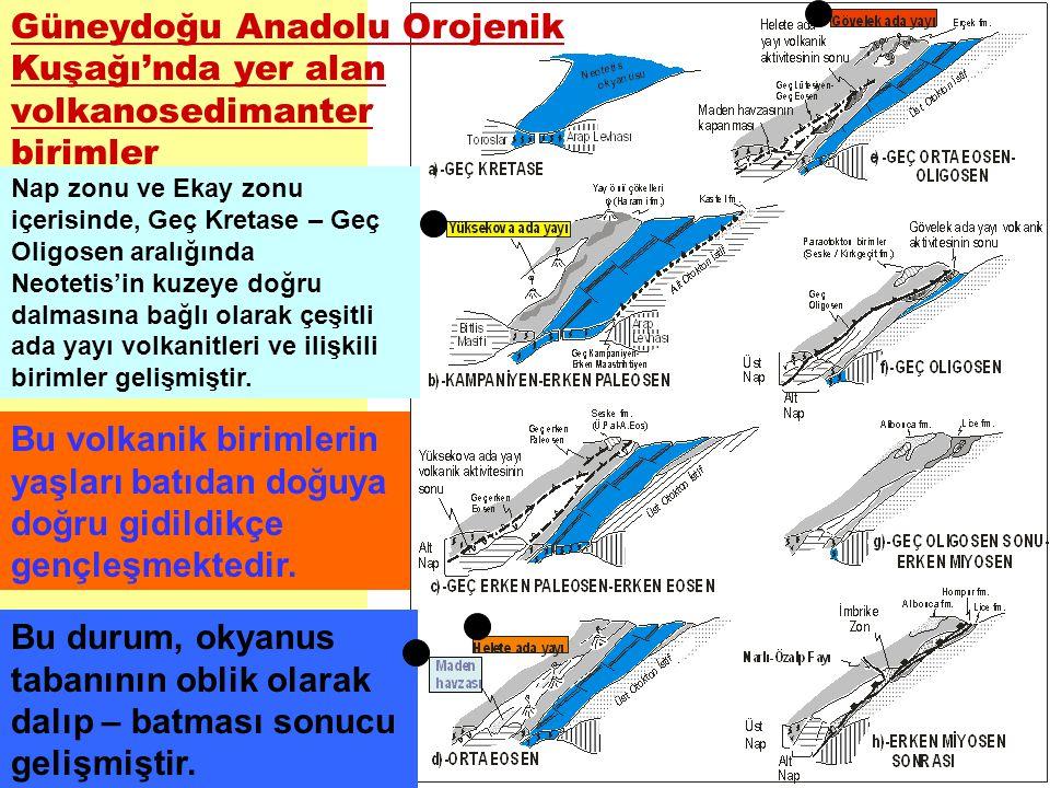 Güneydoğu Anadolu Orojenik Kuşağı'nda yer alan volkanosedimanter