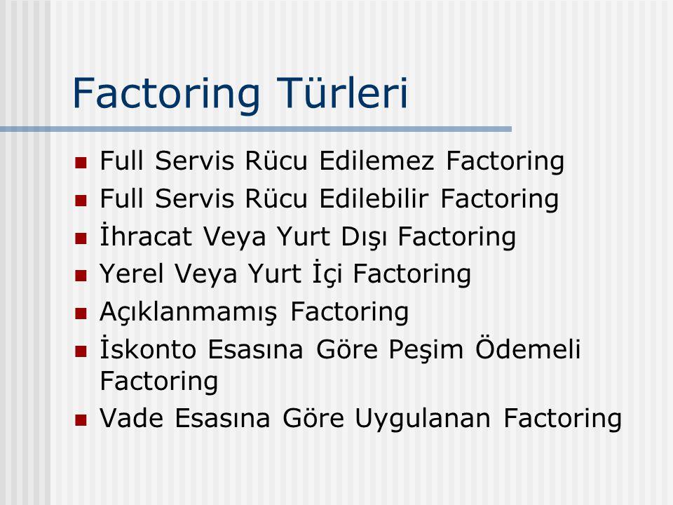 Factoring Türleri Full Servis Rücu Edilemez Factoring
