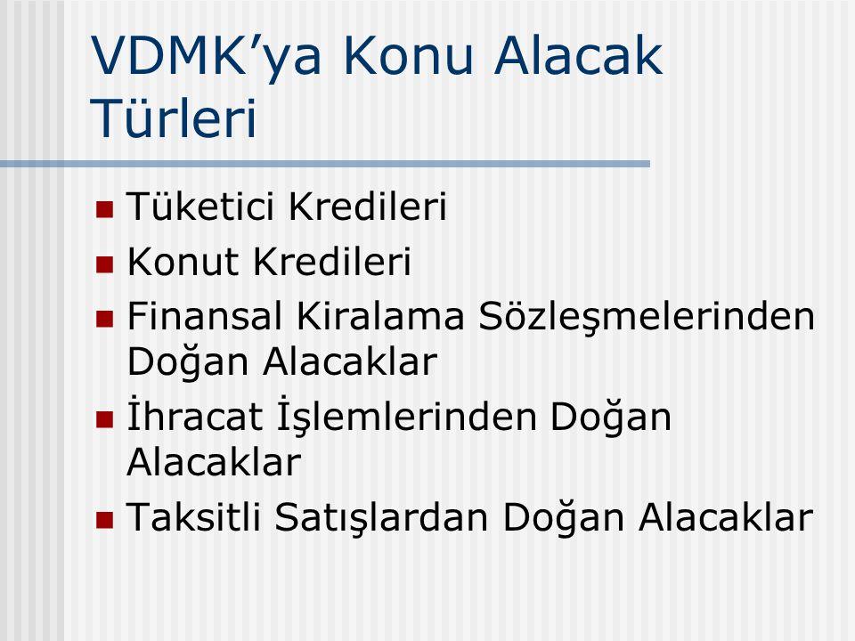 VDMK'ya Konu Alacak Türleri