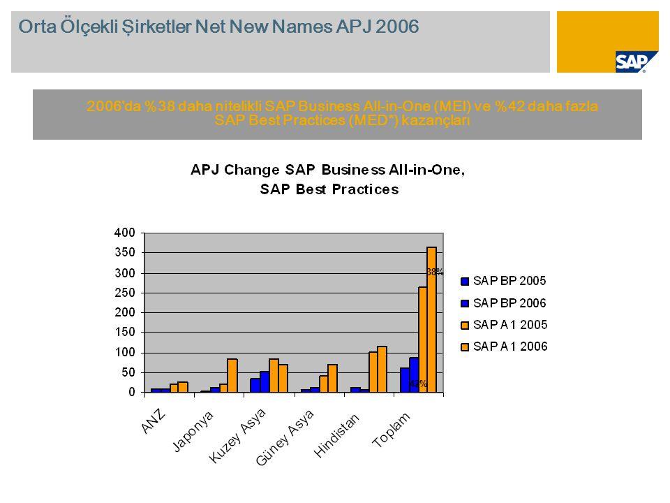 Orta Ölçekli Şirketler Net New Names APJ 2006