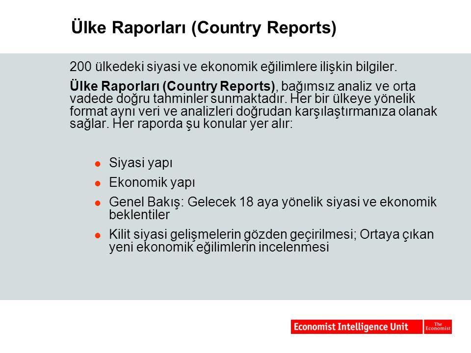 Ülke Raporları (Country Reports)
