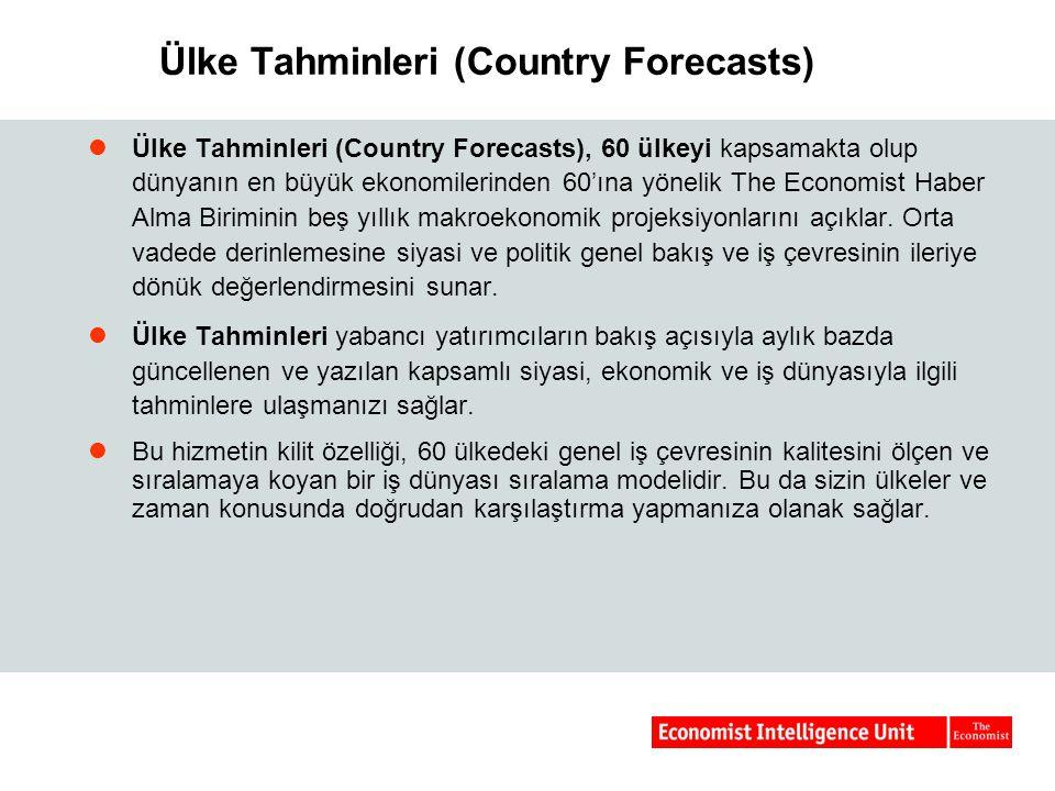Ülke Tahminleri (Country Forecasts)