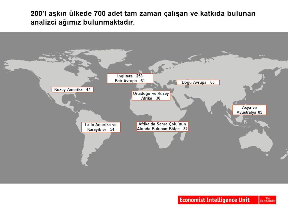 200'i aşkın ülkede 700 adet tam zaman çalışan ve katkıda bulunan analizci ağımız bulunmaktadır.