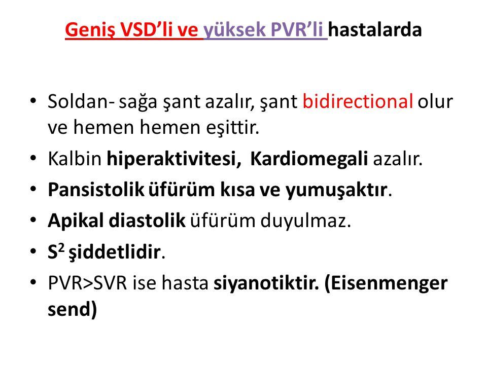 Geniş VSD'li ve yüksek PVR'li hastalarda