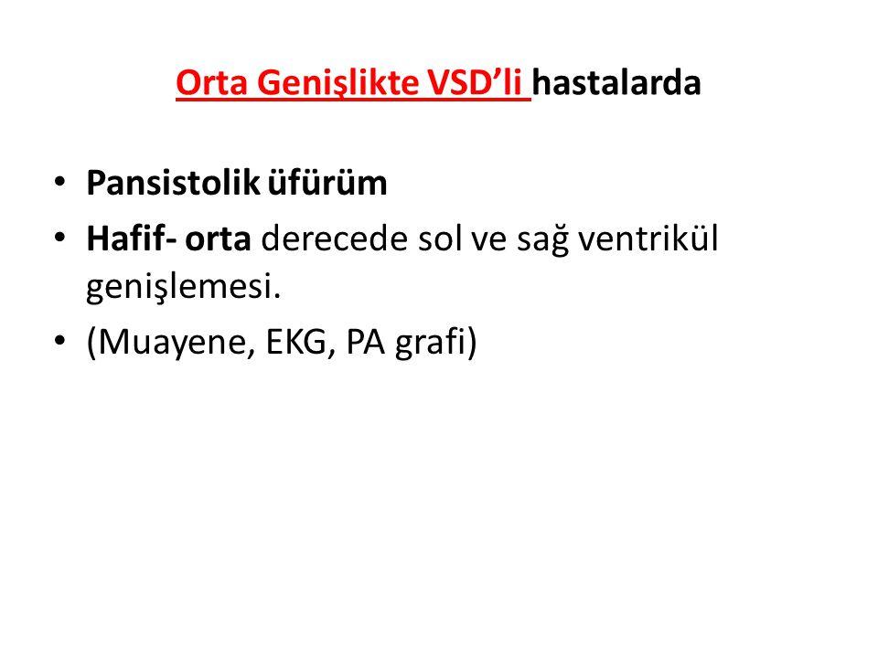 Orta Genişlikte VSD'li hastalarda