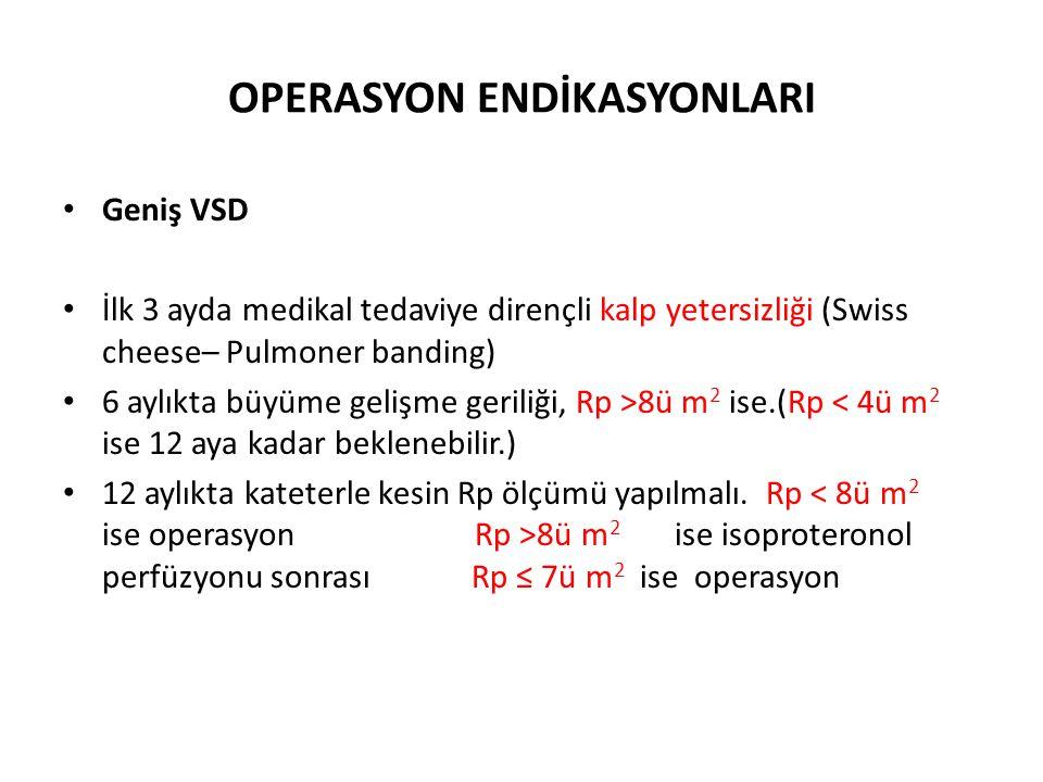 OPERASYON ENDİKASYONLARI