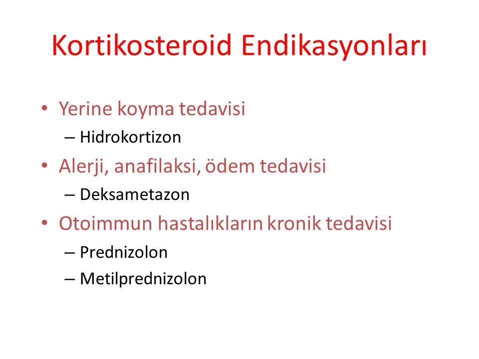 Kortikosteroid Endikasyonları
