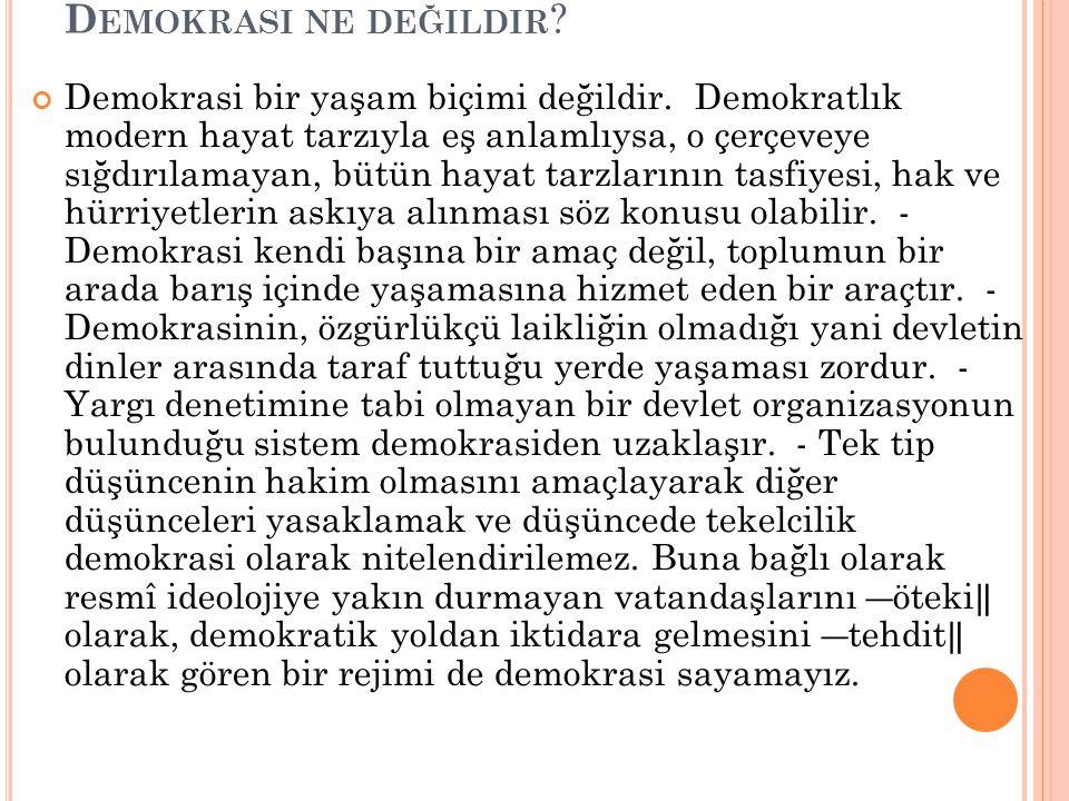 Demokrasi ne değildir