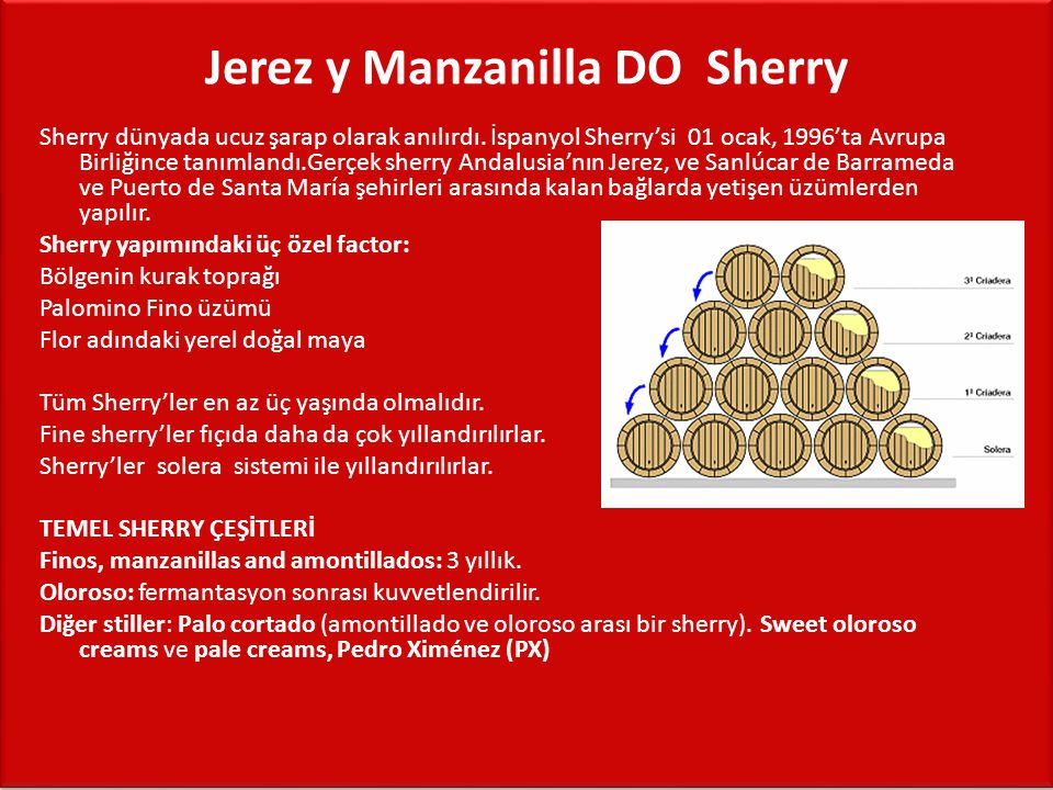 Jerez y Manzanilla DO ­ Sherry