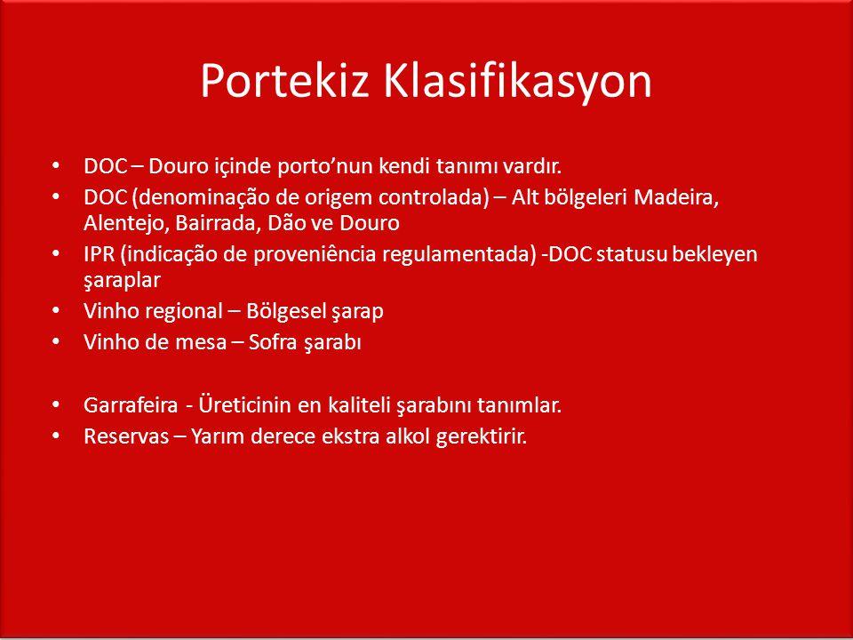 Portekiz Klasifikasyon