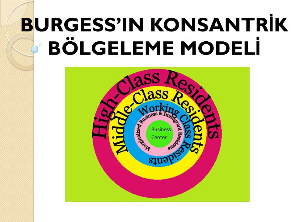 BURGESS'IN KONSANTRİK BÖLGELEME MODELİ