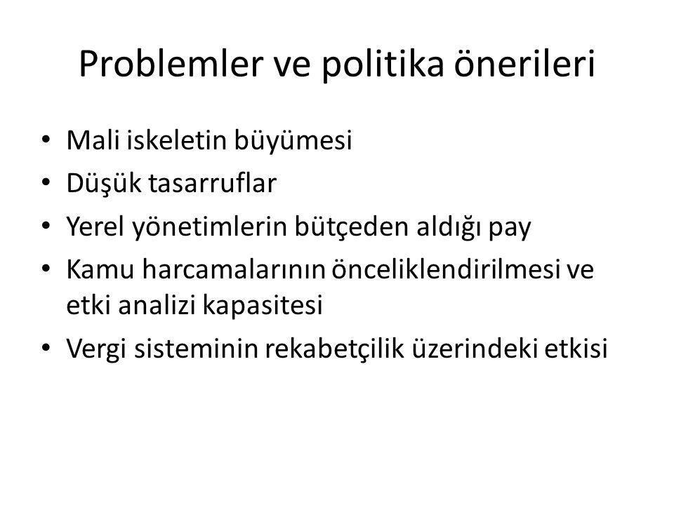 Problemler ve politika önerileri