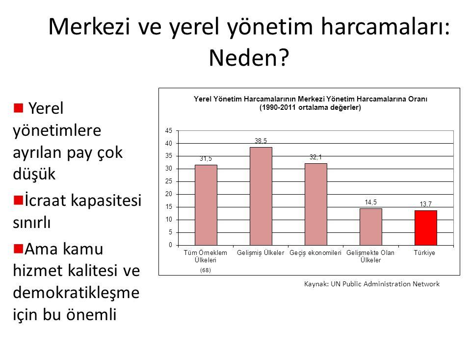 Merkezi ve yerel yönetim harcamaları: Neden