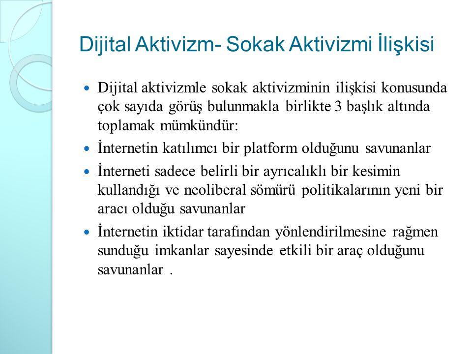 Dijital Aktivizm- Sokak Aktivizmi İlişkisi