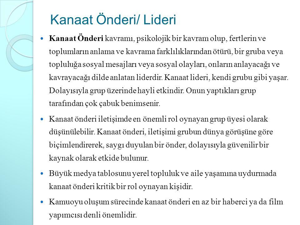 Kanaat Önderi/ Lideri